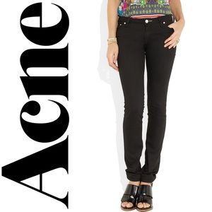 ACNÉ low rise skinny Kex jeans in wet black